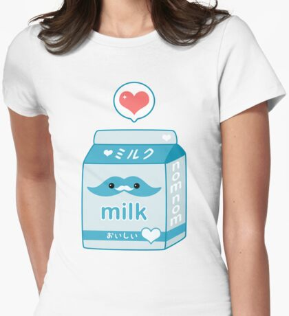 Cute Milk with Mustache T-Shirt