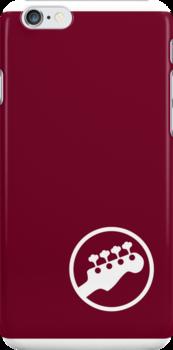 "Bass Headstock ""Ringer"" style (Scott Pilgrim - iPhone case) by Malc Foy"