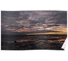 sunset over dee estuary Poster