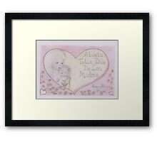 Mothers day card in Spanish Framed Print