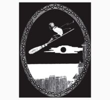 Henry Clarke Illustration for If I Had a Broomstick in The Years at the Spring Inverted Kids Tee
