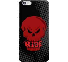 Red Skull: JUST RIDE iPhone Case/Skin