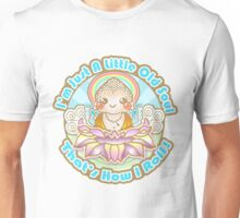Kawaii Style Baby Buddha on Lotus Flower -  Unisex T-Shirt