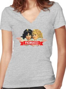 FIORUCCI 3 Women's Fitted V-Neck T-Shirt