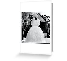 Rising From The Blizzard Greeting Card