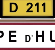 Alpe d'Huez Sign Tour de France Cycling Shirt Sticker