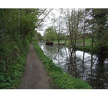 Stroud Water Canal in Gloucestershire Photographic Print