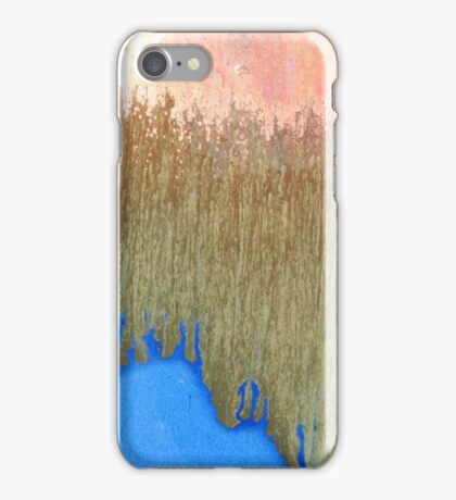 Abstract shiny copper blue gold and brown colors iPhone Case/Skin