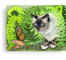 Butterfly Hunting Canvas Print