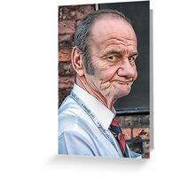 LucisArt Elder Gentleman Portrait Greeting Card