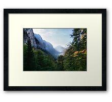 L'Automne dans Les Alpes Framed Print