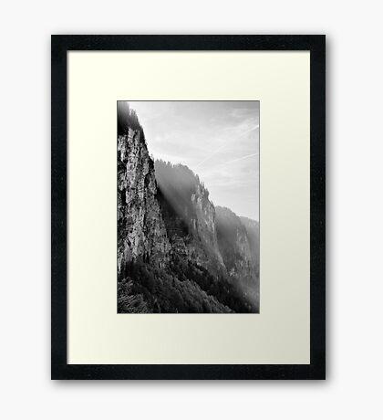 BW Alpes Framed Print