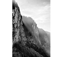 BW Alpes Photographic Print