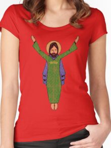 Touchdown Jesus Vintage Women's Fitted Scoop T-Shirt