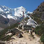 Stupa at Thame, Khumbu Region of Nepal by Jan Vinclair