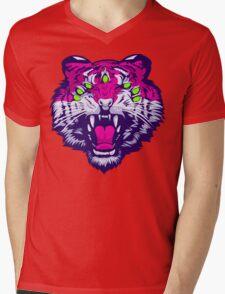 Seven-Eyed Tiger Mens V-Neck T-Shirt