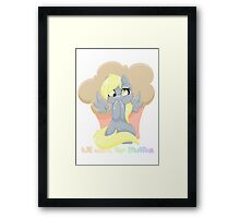 Will Work For Muffins Framed Print