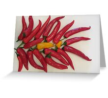 Chilli Peppers Greeting Card