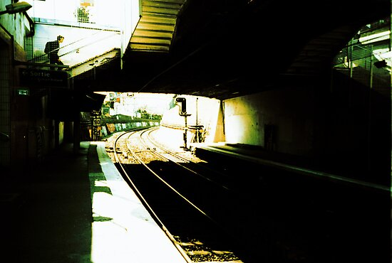 train station in the sun by busteradams