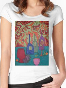 Still Life with Bottles Women's Fitted Scoop T-Shirt