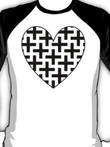 Swastika Love Heart - Black T-Shirt