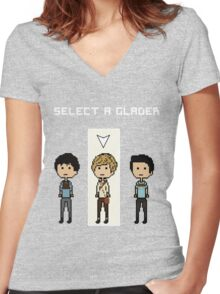 Select Newt  Women's Fitted V-Neck T-Shirt