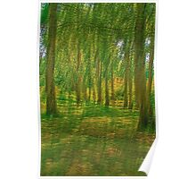 Yellow thru the Trees Poster