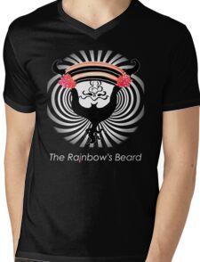 "The Rainbow's Beard - ""Fiberoptic Beard"" Mens V-Neck T-Shirt"