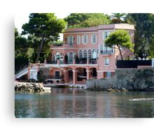 David Niven Villa On Cap Ferrat Canvas Print