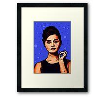 Jenna Coleman a.k.a Clara Oswald Framed Print