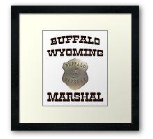 Buffalo Marshal Framed Print