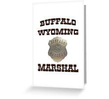 Buffalo Marshal Greeting Card