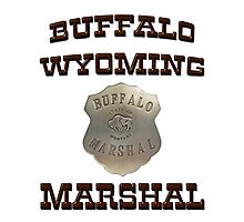 Buffalo Marshal Photographic Print