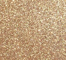 Copper Rose Gold Metallic Glitter by podartist