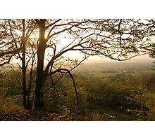 Late October Landscape, East Devon Photographic Print