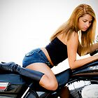 Bianka On Bike by Tom Miles