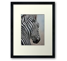 Zebra Look Framed Print
