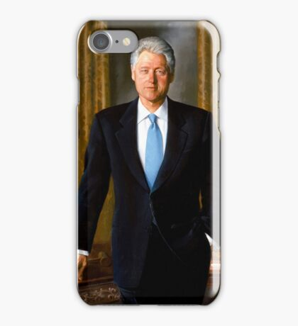 President Bill Clinton Painting iPhone Case/Skin