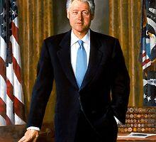 President Bill Clinton Painting by warishellstore