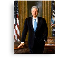 President Bill Clinton Painting Canvas Print