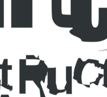 gLiTcH DeStRuCtiVe CreAti0niSm (Black) Sticker