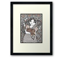 Alice & the Pig Baby Framed Print