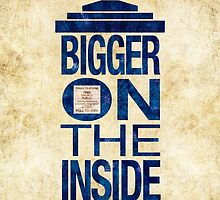 It's Bigger on the Inside - Tardis Grunge by Dacdacgirl