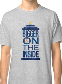 It's Bigger on the Inside - Tardis Grunge Classic T-Shirt