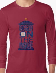 It's Bigger on the Inside - Tardis Grunge Long Sleeve T-Shirt