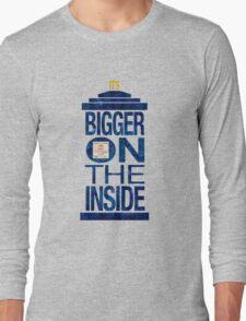 It's Bigger on the Inside - Tardis Grunge Long Sleeve T-Shirt