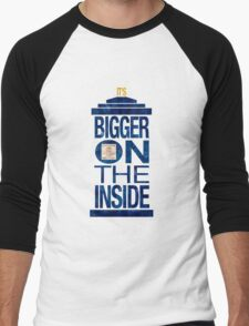 It's Bigger on the Inside - Tardis Grunge Men's Baseball ¾ T-Shirt