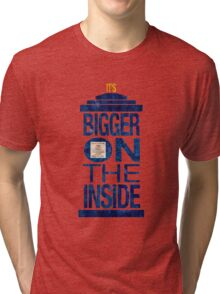 It's Bigger on the Inside - Tardis Grunge Tri-blend T-Shirt