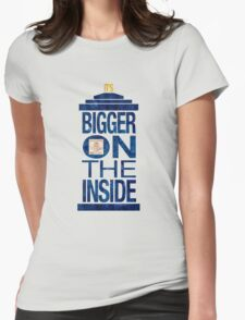 It's Bigger on the Inside - Tardis Grunge Womens Fitted T-Shirt