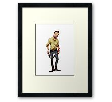 The Walking Dead Rick Cartoon Framed Print